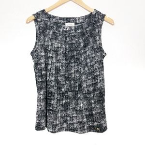 Tahari ASL | Patterned Sleeveless Blouse
